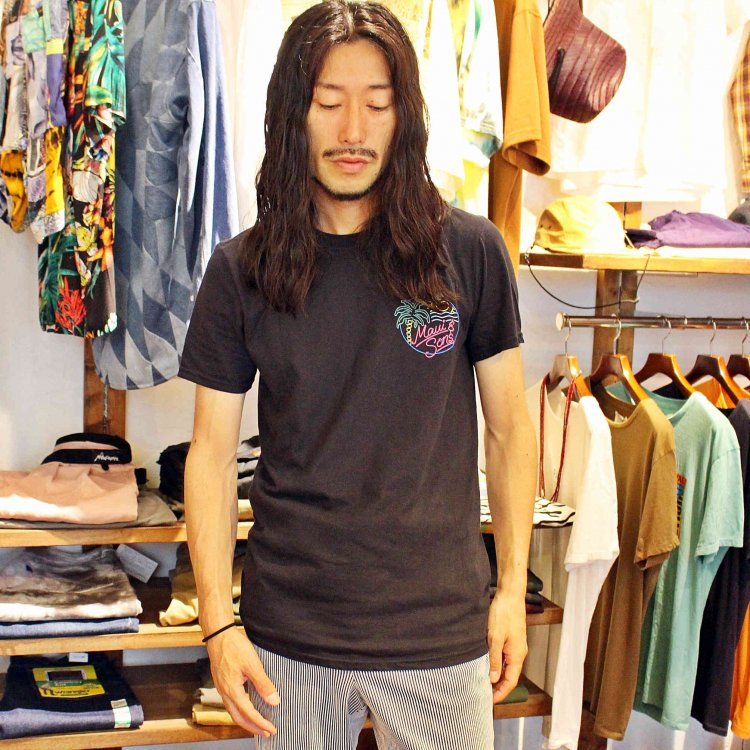 MAUI and Sons マウイ&サンズ / SS Tee Tシャツ (BLACK ブラック)