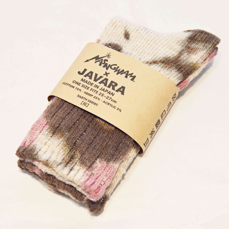 Nasngwam.×JAVARA×A HOPE HEMP / EARTH SOCKS (桜) レターパック配送