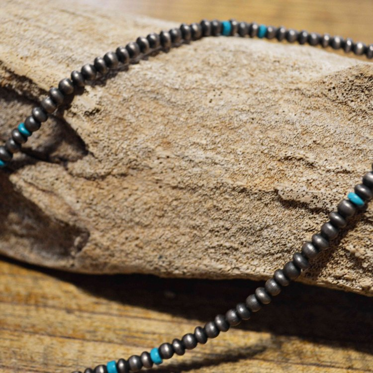 Indian jewelry インディアンジュエリー / NAVAJO CHAIIN BEADS NECKLACE ナヴァホチェーンビーズネックレス