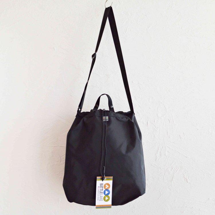 BATTLELAKE バトルレイク / STOWAWAY SHOLDER Packcloth 2WAYバック (BLACK ブラック)