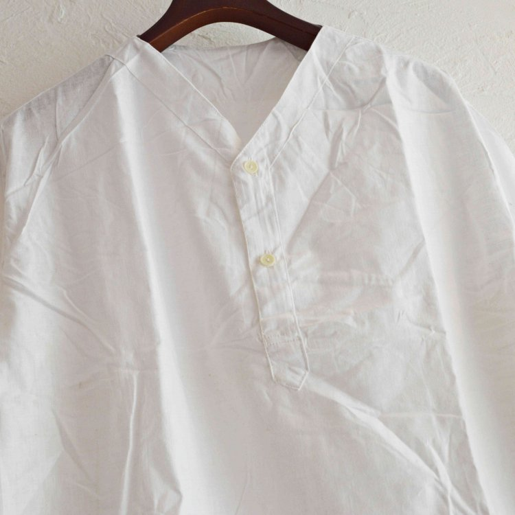 LEATHER TRAMP SELECT / 【DEAD STOCK】RUSSIAN ARMY SLEEPING SHIRTS デットストック ロシア軍スリーピングシャツ (WHITE ホワイト)