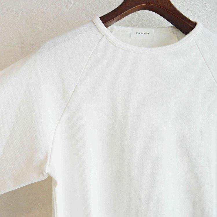 SPINNER BAIT / セータージャージラグランクルー (WHITE ホワイト)