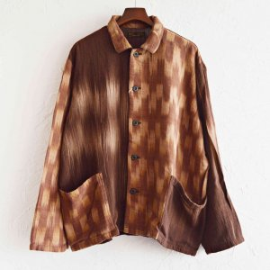 Nasngwam. ナスングワム / FAINT JACKET カバーオール (BROWN ブラウン)<img class='new_mark_img2' src='https://img.shop-pro.jp/img/new/icons1.gif' style='border:none;display:inline;margin:0px;padding:0px;width:auto;' />