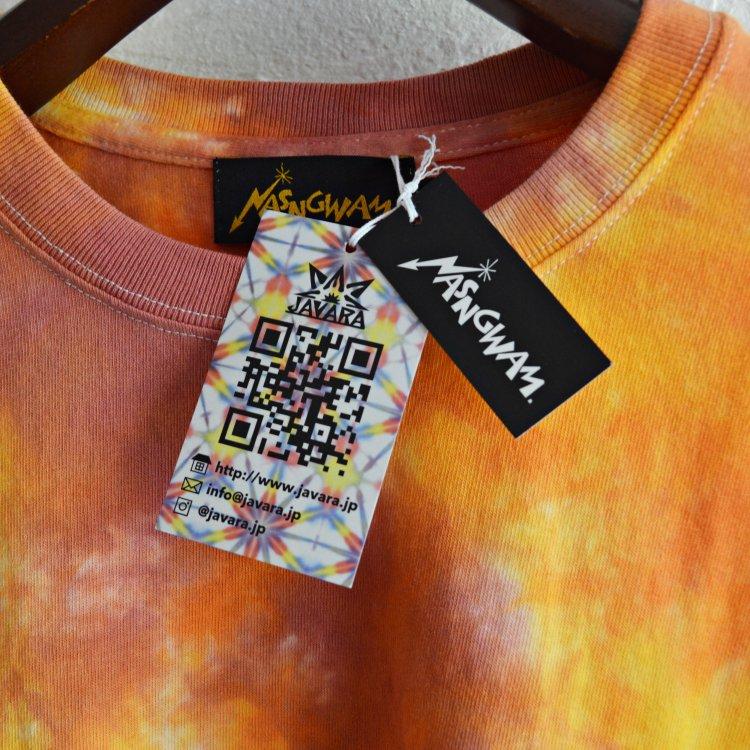 Nasngwam.×JAVARA ナスングワム ジャバラ / EARTH L/S TEE アースロングスリーブTシャツ (紅葉 コウヨウ)