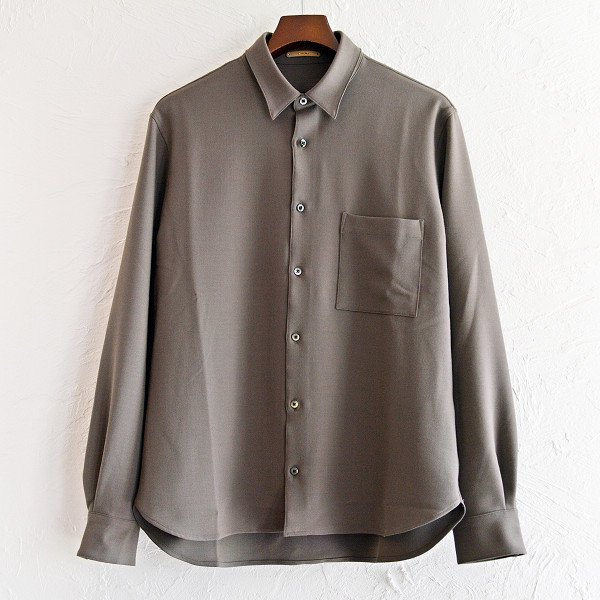 LAMOND ラモンド / STRETCH OX SHIRT ストレッチオックスシャツ (BROWN ブラウン)