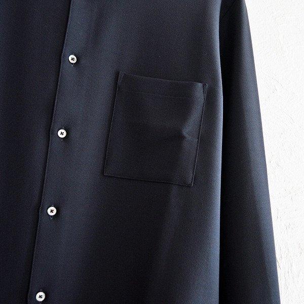 LAMOND ラモンド / STRETCH OX SHIRT ストレッチオックスシャツ (D.NAVY ダークネイビー)