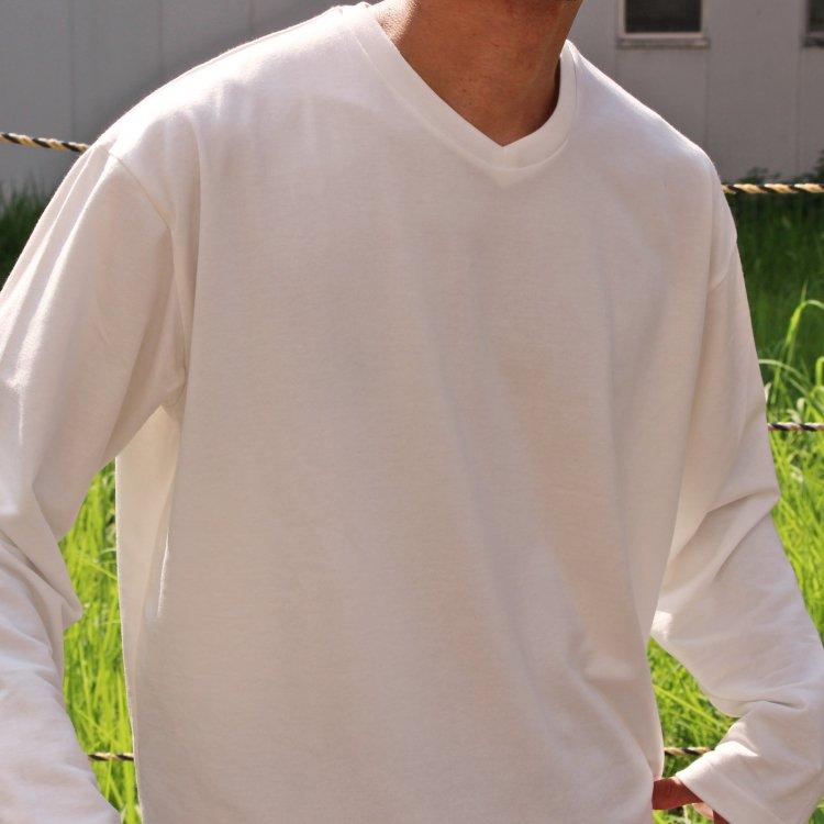 LAMOND ラモンド / リヨセルハイゲージ裏毛 L/S TEE (WHITE ホワイト)