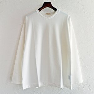 LAMOND ラモンド / リヨセルハイゲージ裏毛 L/S TEE (WHITE ホワイト)<img class='new_mark_img2' src='https://img.shop-pro.jp/img/new/icons1.gif' style='border:none;display:inline;margin:0px;padding:0px;width:auto;' />