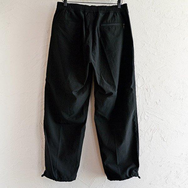 LAMOND ラモンド / N/C SHIBO TRACK PANTS ナイロンコットンシボトラックパンツ (BLACK ブラック)