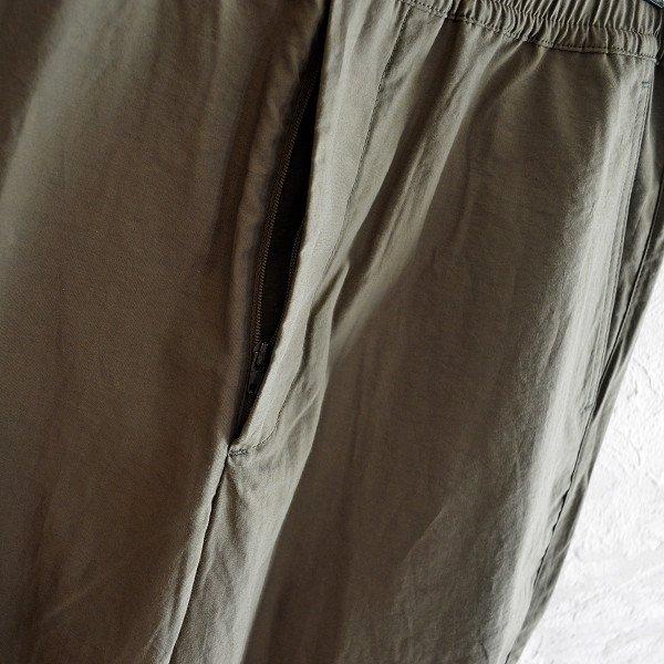 LAMOND ラモンド / N/C SHIBO TRACK PANTS ナイロンコットンシボトラックパンツ (KHAKI カーキ)