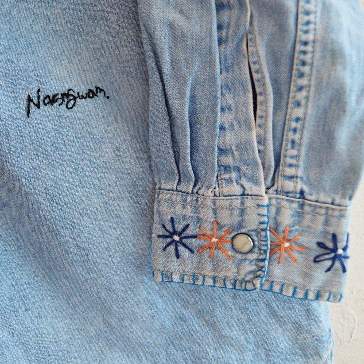 Nasngwam. ナスングワム / FLOWER DENIM SHIRTS フラワーデニムシャツ (DENIM デニム)
