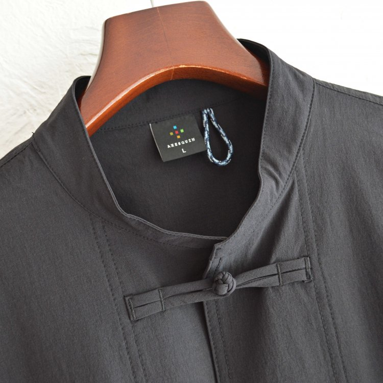 AXESQUIN アクシーズクイーン / TECH KUNG-FU JACKET テックカンフージャケット (BLACK ブラック)
