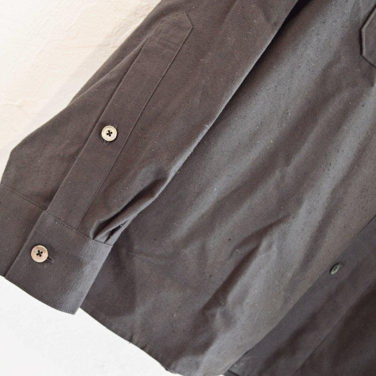 LAMOND ラモンド / ORGANIC COTTON NEP BACK TWILL JACKET シャツジャケット(SUMI スミ)