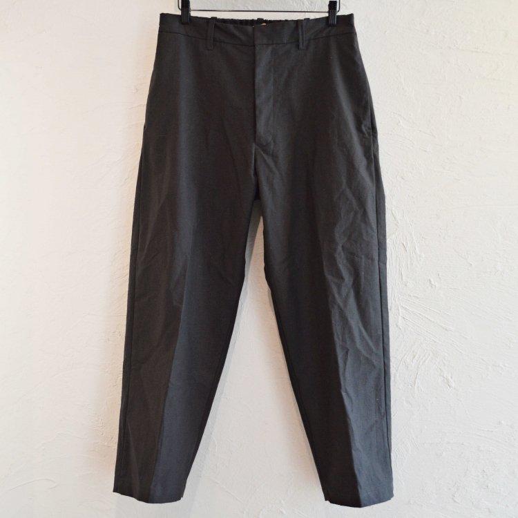 LAMOND ラモンド / ORGANIC COTTON NEP BACK TWILL PANTS パンツ (SUMI スミ)