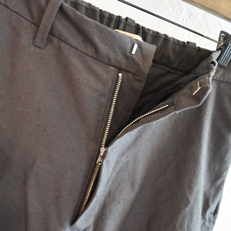 LAMOND ラモンド / ORGANIC COTTON NEP BACK TWILL PANTS パンツ (SUMI スミ)