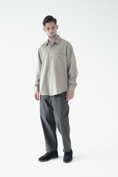LAMOND ラモンド / ORGANIC COTTON NEP BACK TWILL PANTS パンツ (SUMI スミ)<img class='new_mark_img2' src='https://img.shop-pro.jp/img/new/icons1.gif' style='border:none;display:inline;margin:0px;padding:0px;width:auto;' />