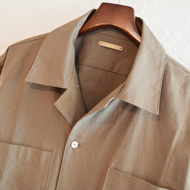 LAMOND ラモンド / ORGANIC COTTON NEP BACK TWILL JACKET シャツジャケット(MOSS モス)
