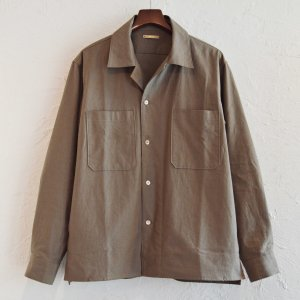 LAMOND ラモンド / ORGANIC COTTON NEP BACK TWILL JACKET シャツジャケット(MOSS モス)<img class='new_mark_img2' src='https://img.shop-pro.jp/img/new/icons1.gif' style='border:none;display:inline;margin:0px;padding:0px;width:auto;' />