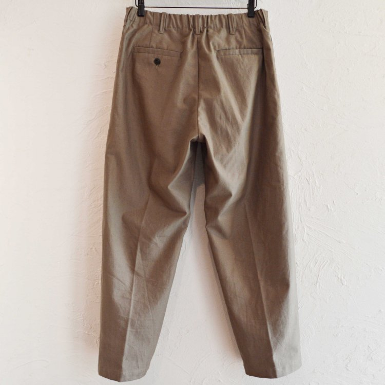 LAMOND ラモンド / ORGANIC COTTON NEP BACK TWILL PANTS パンツ (MOSS モス)