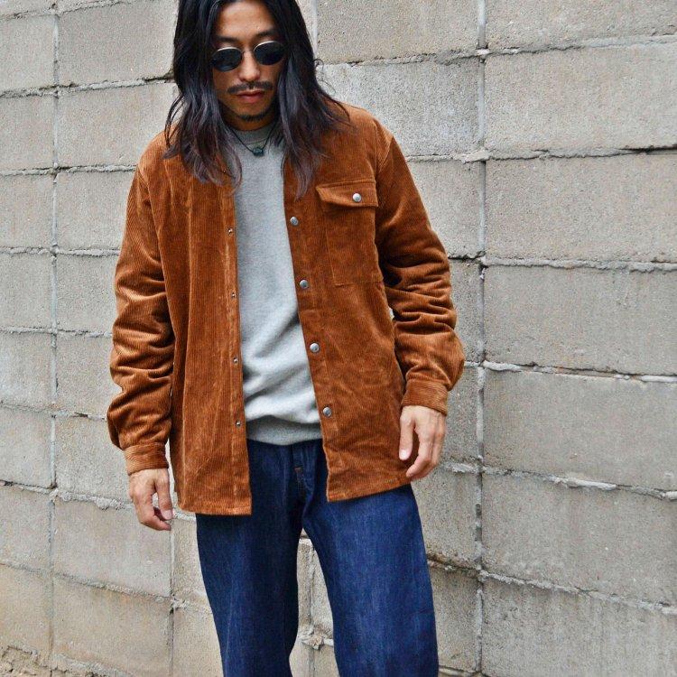SPINNER BAIT スピナーベイト / OGURI DOT SHIRT CORDUROY コーデュロイシャツジャケット (CAMEL キャメル)