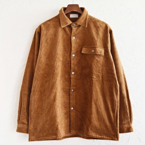 SPINNER BAIT スピナーベイト / OGURI DOT SHIRT CORDUROY コーデュロイシャツジャケット (CAMEL キャメル)<img class='new_mark_img2' src='https://img.shop-pro.jp/img/new/icons1.gif' style='border:none;display:inline;margin:0px;padding:0px;width:auto;' />