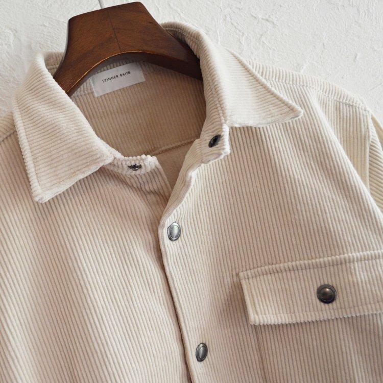 SPINNER BAIT スピナーベイト / OGURI DOT SHIRT CORDUROY コーデュロイシャツジャケット (KINARI 生成り)