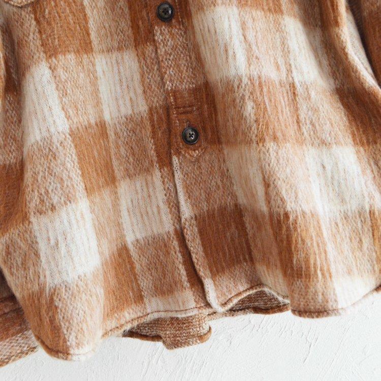 melple メイプル / Berkeley Over Shirts Shaggy check オーバーシャツ (CAMEL キャメル)
