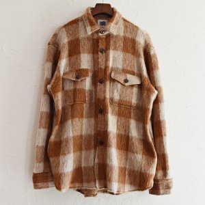 melple メイプル / Berkeley Over Shirts Shaggy check オーバーシャツ (CAMEL キャメル)<img class='new_mark_img2' src='https://img.shop-pro.jp/img/new/icons1.gif' style='border:none;display:inline;margin:0px;padding:0px;width:auto;' />