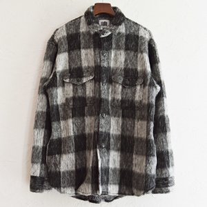 melple メイプル / Berkeley Over Shirts Shaggy check オーバーシャツ (BLACK ブラック)<img class='new_mark_img2' src='https://img.shop-pro.jp/img/new/icons1.gif' style='border:none;display:inline;margin:0px;padding:0px;width:auto;' />
