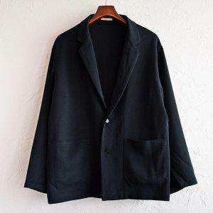 LAMOND ラモンド / KARSEY STRECH WIDE JACKET ワイドジャケット (BLACK ブラック)