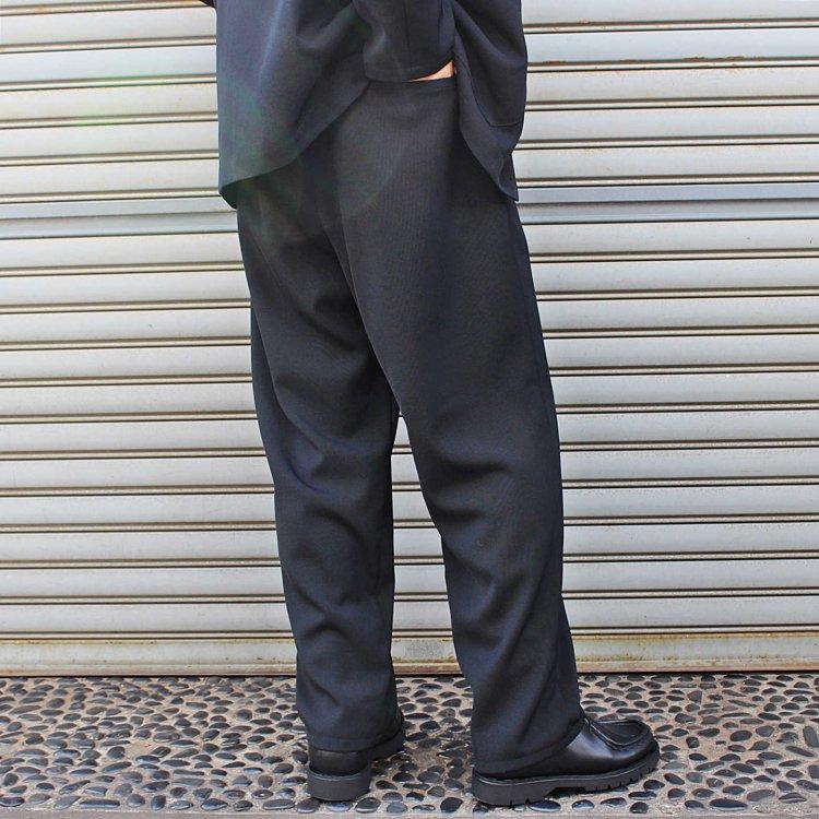 LAMOND ラモンド / KARSEY STRECH WIDE PANTS ワイドパンツ (BLACK ブラック)