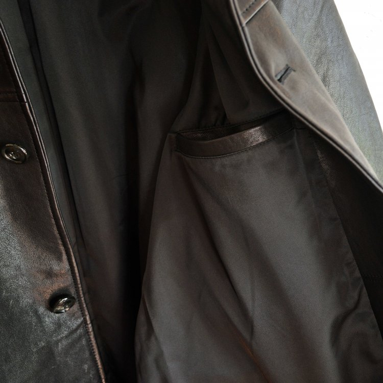 AWESOME LEATHER オーサムレザー / CAR COAT カーコート (BLACK ブラック)<img class='new_mark_img2' src='https://img.shop-pro.jp/img/new/icons1.gif' style='border:none;display:inline;margin:0px;padding:0px;width:auto;' />