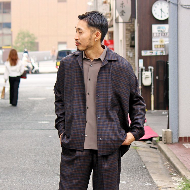 BASISBROEK バージスブルック / JAGGER シャツジャケット (CHECK チェック)<img class='new_mark_img2' src='https://img.shop-pro.jp/img/new/icons1.gif' style='border:none;display:inline;margin:0px;padding:0px;width:auto;' />