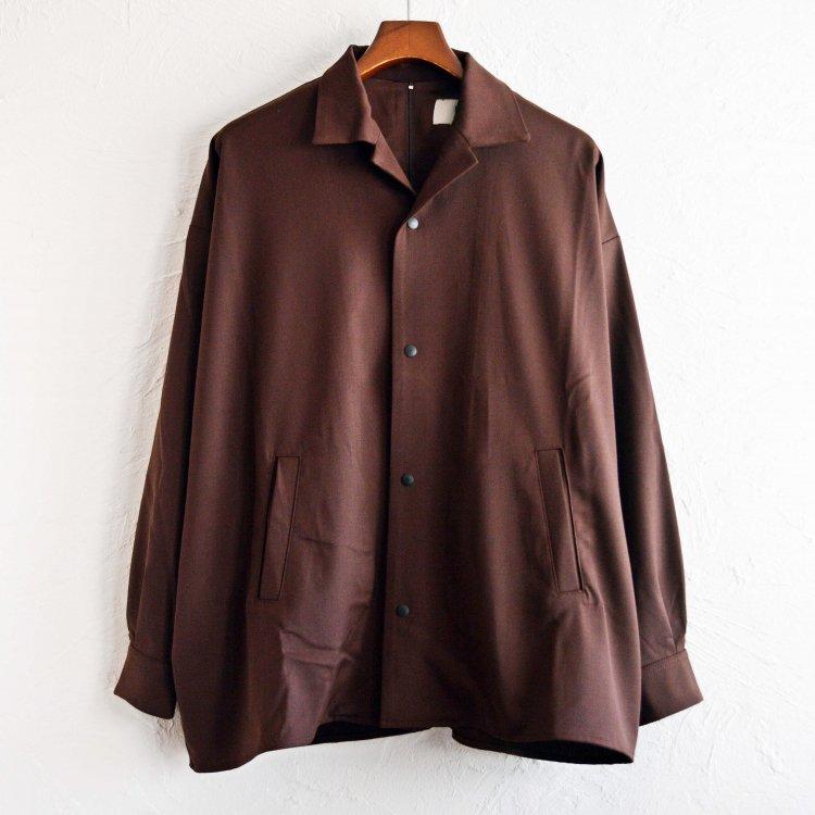 BASISBROEK バージスブルック / JAGGER シャツジャケット (BROWN ブラウン)