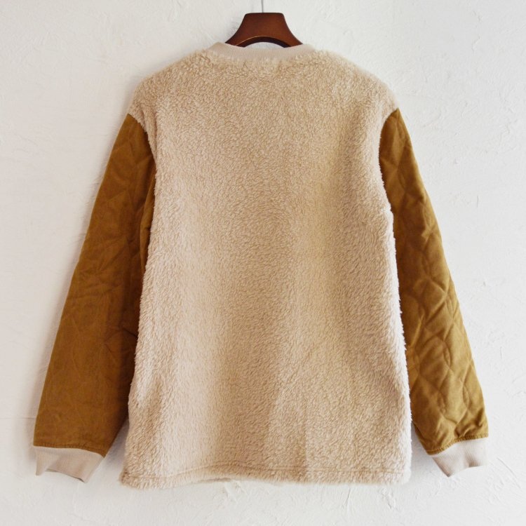 modemdesign モデムデザイン / BOA×QUILTING CREW NECK ボアキルティングクルーネック (BEIGE ベージュ)<img class='new_mark_img2' src='https://img.shop-pro.jp/img/new/icons1.gif' style='border:none;display:inline;margin:0px;padding:0px;width:auto;' />