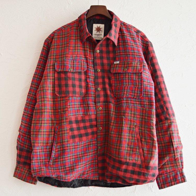 Nasngwam. ナスングワム / WINTER SKELTER JACKET ウインタースキレタージャケット【CHECK】 (RED レッド)