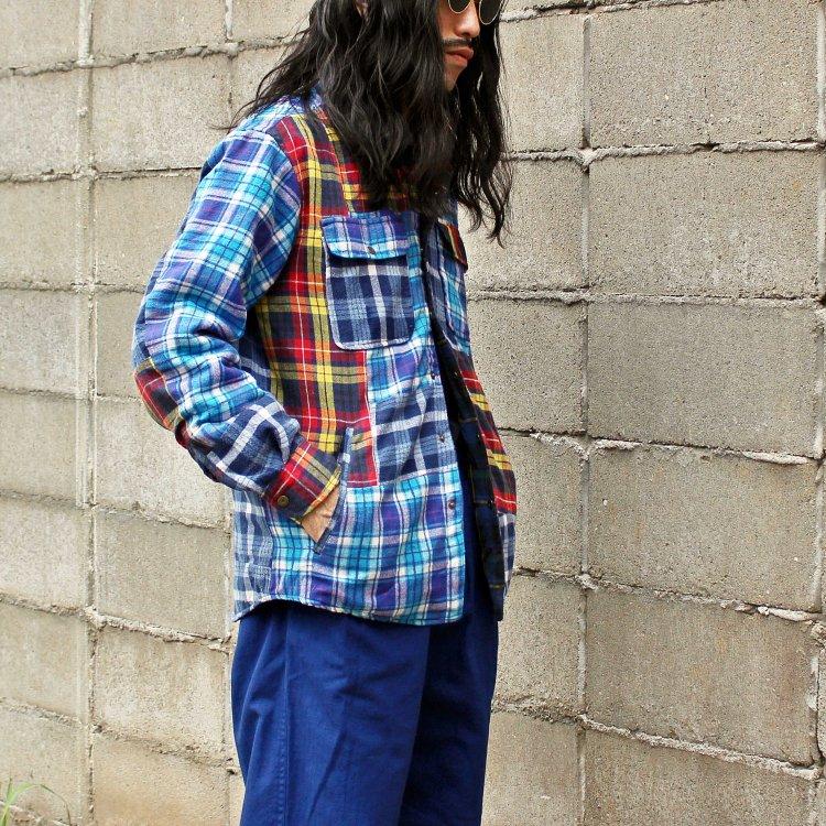 Nasngwam. ナスングワム / WINTER SKELTER JACKET ウインタースキレタージャケット【CHECK】 (BLUE ブルー)