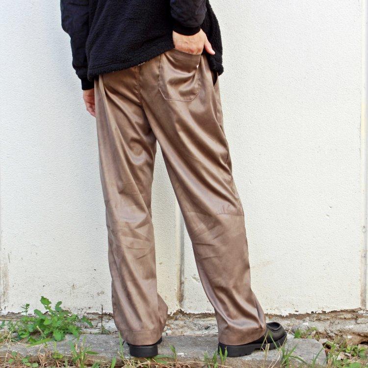 melple メイプル / MICRO SUEDE EASY PANTS マイクロスエードイージーパンツ (TAUPE トープ)
