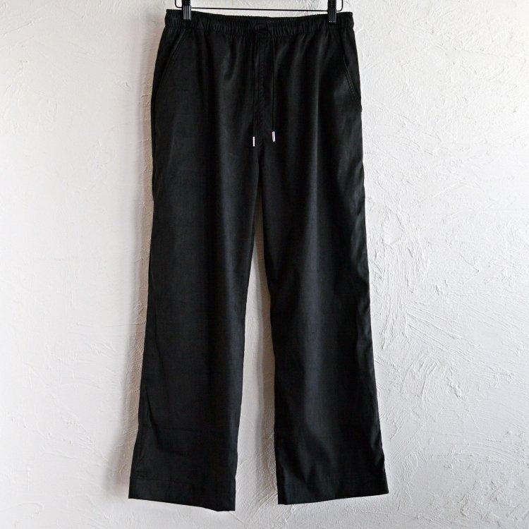 melple メイプル / MICRO SUEDE EASY PANTS マイクロスエードイージーパンツ (BLACK ブラック)