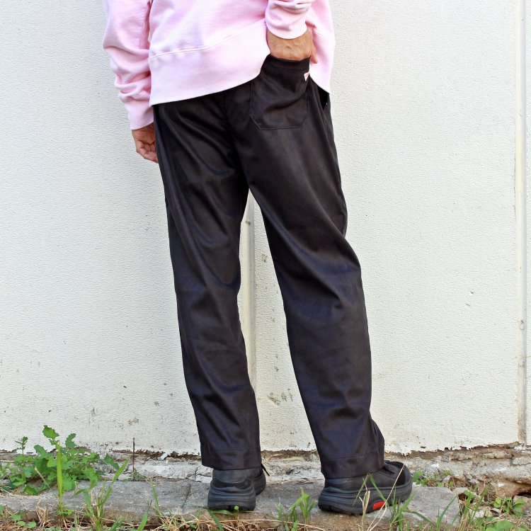 melple メイプル / MICRO SUEDE EASY PANTS マイクロスエードイージーパンツ (BLACK ブラック) <img class='new_mark_img2' src='https://img.shop-pro.jp/img/new/icons1.gif' style='border:none;display:inline;margin:0px;padding:0px;width:auto;' />