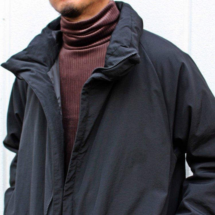 LAMOND ラモンド / N/C SHIBO STAND DOWN COAT ナイロンコットンシボスタンドダウンコート (BLACK ブラック)