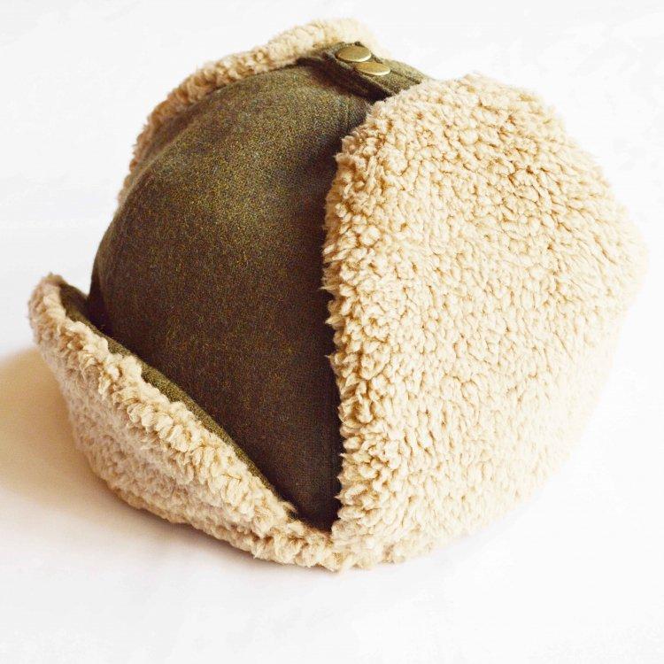 Nasngwam. ナスングワム / PORCO CAP フライトキャップ (OLIVE オリーブ)