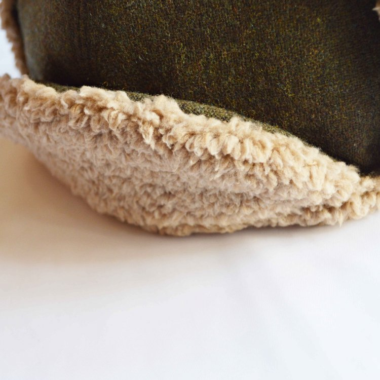 Nasngwam. ナスングワム / PORCO CAP フライトキャップ (OLIVE オリーブ)<img class='new_mark_img2' src='https://img.shop-pro.jp/img/new/icons1.gif' style='border:none;display:inline;margin:0px;padding:0px;width:auto;' />