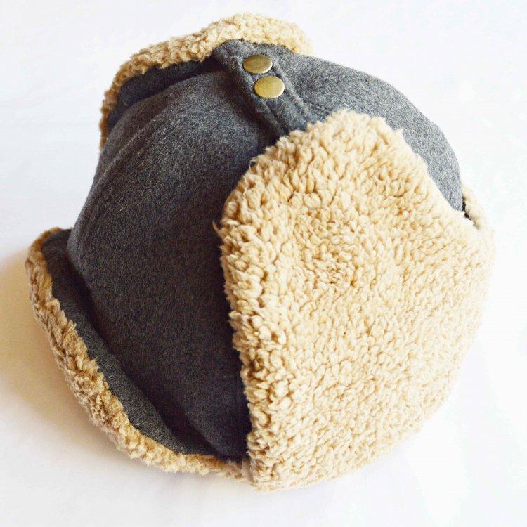 Nasngwam. ナスングワム / PORCO CAP フライトキャップ (GRAY グレー)