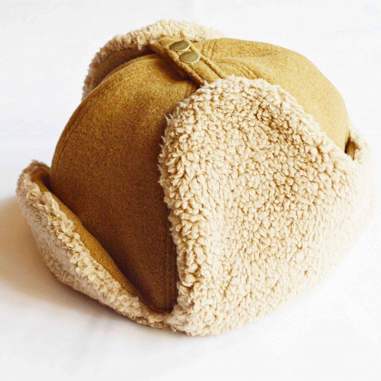 Nasngwam. ナスングワム / PORCO CAP フライトキャップ (CAMEL キャメル)