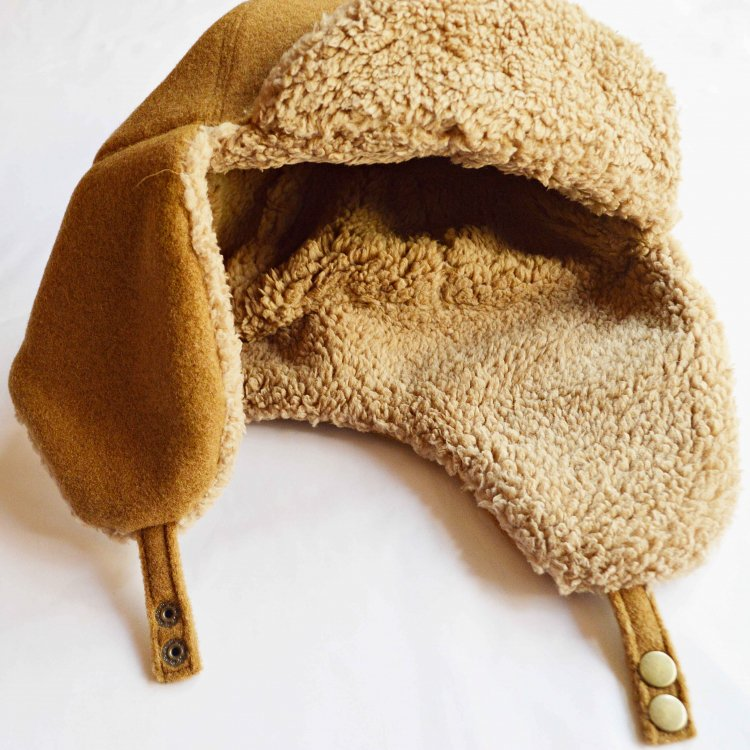Nasngwam. ナスングワム / PORCO CAP フライトキャップ (CAMEL キャメル)<img class='new_mark_img2' src='https://img.shop-pro.jp/img/new/icons1.gif' style='border:none;display:inline;margin:0px;padding:0px;width:auto;' />