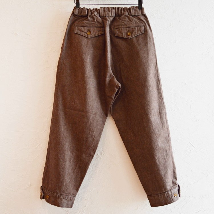 Nasngwam. ナスングワム / PIERROT PANTS デニムパンツ (BROWN ブラウン)<img class='new_mark_img2' src='https://img.shop-pro.jp/img/new/icons1.gif' style='border:none;display:inline;margin:0px;padding:0px;width:auto;' />