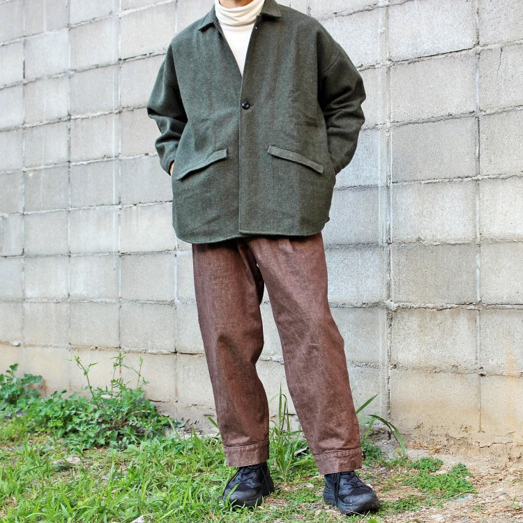 Lane Fortyfive レーンフォーティーファイブ / ROUNDED ラウンデット (Melton Olive メルトンオリーブ)<img class='new_mark_img2' src='https://img.shop-pro.jp/img/new/icons1.gif' style='border:none;display:inline;margin:0px;padding:0px;width:auto;' />