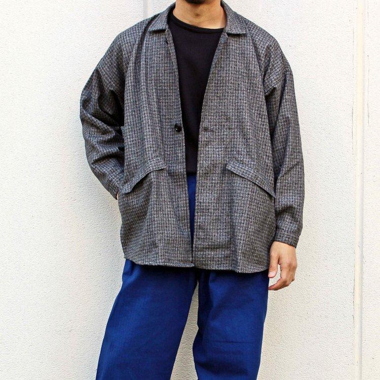 Lane Fortyfive レーンフォーティーファイブ / ROUNDED ラウンデット (Wool Check Grey ウールチェックグレー)