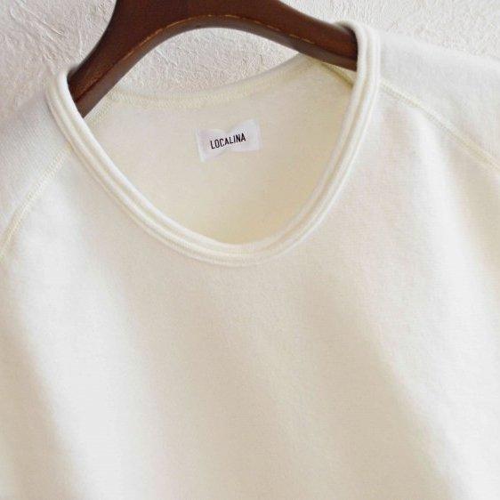 LOCALINA ロカリナ / L/S CREW NECK ロングスリーブクルーネック (WHITE ホワイト)